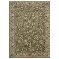 kathy ireland Antiquities Royal Countryside Sage Area Rug by Nourison - 5'3 x 7'4