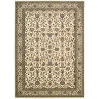 kathy ireland Antiquities Royal Countryside Ivory Area Rug by Nourison (5'3 x 7'4)