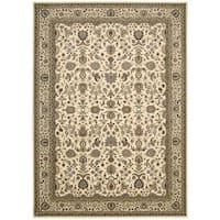 kathy ireland Antiquities Royal Countryside Ivory Area Rug by Nourison - 5'3 x 7'4