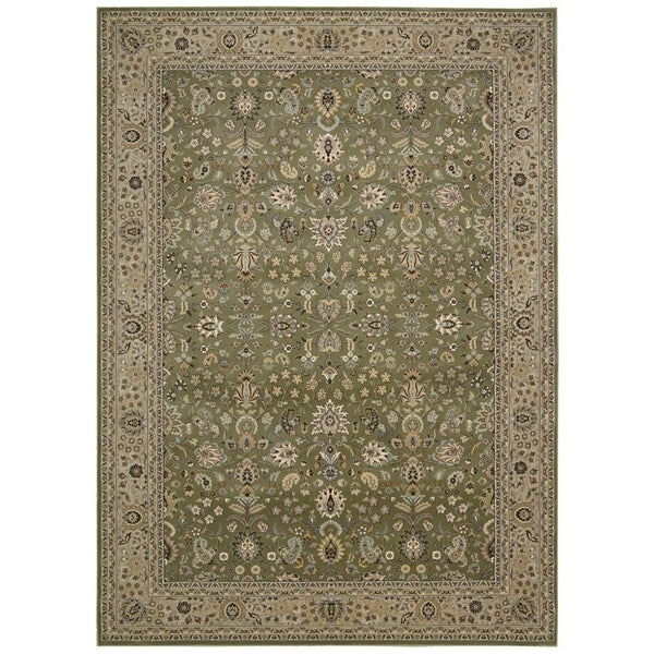 kathy ireland Antiquities Royal Countryside Sage Area Rug by Nourison (7'10 x 10'10)