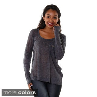 Hadari Women's Contemporary Womens Knit Long Sleeve Top