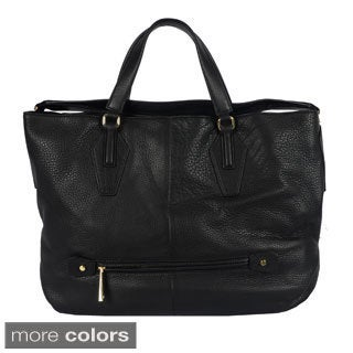 Halston Convertible Hobo Pebble Handbag