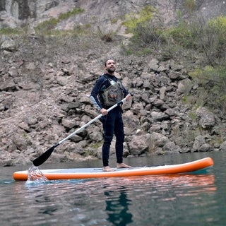 Stingray 11-ft Inflatable Stand Up Paddleboard & Hand Pump