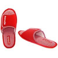 Vecceli Women's Red Striped Open Toe Slippers