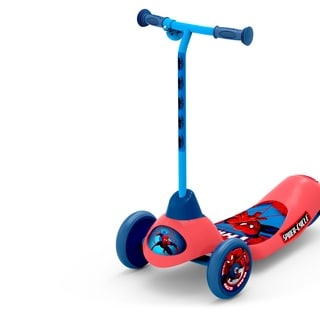 Marvel Ultimate Spider-Man Safe Start 3-Wheel Electric Scooter (Option: Red)