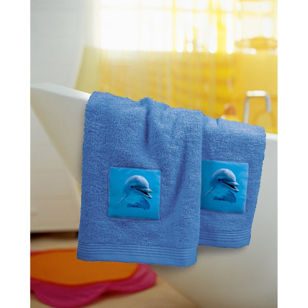 bassetti blue dolphin hand towel set of 2 free shipping today 16869060