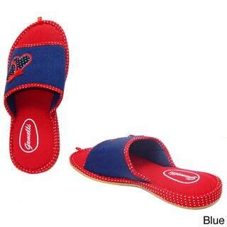 Vecceli Women's Open Toe Cushioned Slippers