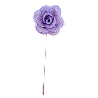 Men's Flower Lapel Pin Handmade (Option: Lavender)