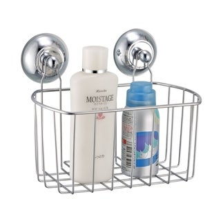 Metal Bath Caddy with Wall Suction Cups