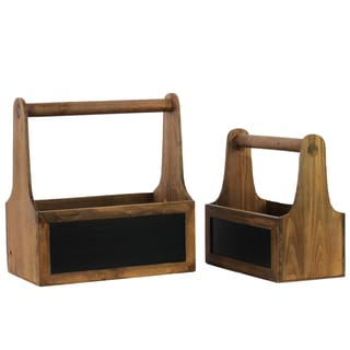 Urban Trends Collection Wooden Organizers (Set of 2)