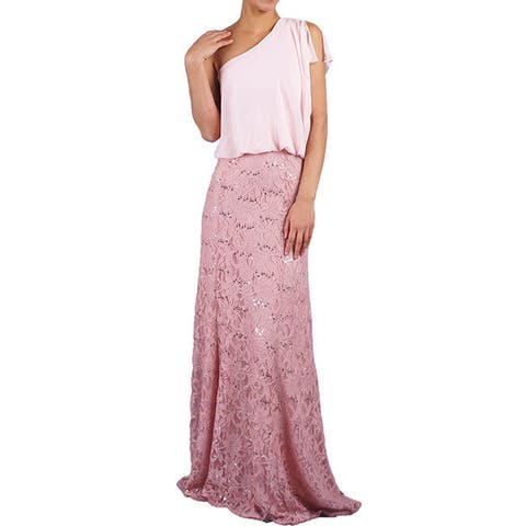 DFI Women's Chiffon and Lace Evening Gown