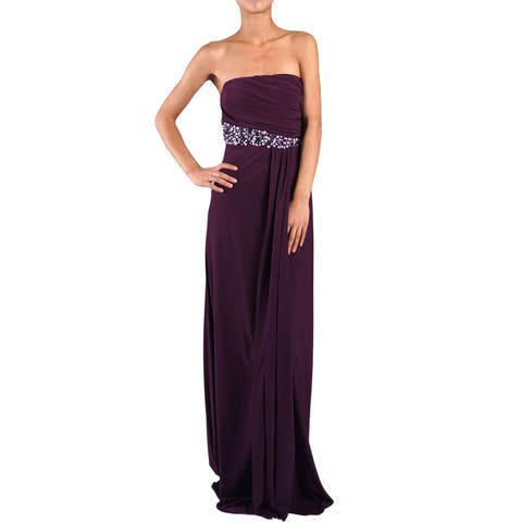 DFI Women's Jewel Accented Strapless Social Dress