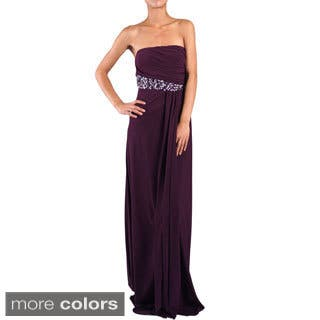 DFI Women's Jewel Accented Strapless Social Dress https://ak1.ostkcdn.com/images/products/9690944/P16869219.jpg?impolicy=medium