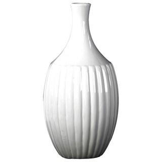 Gloss White Ceramic Small Flower Vase