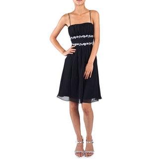 DFI Women's Jewel Adorned Social Short Dress