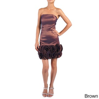 DFI Women's Strapless Evening Gown with Rosettes (More options available)