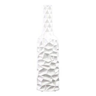 Wrinkled White Ceramic Vase