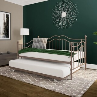 DHP Tokyo Brushed Bronze Metal Daybed and Trundle