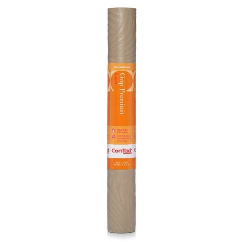 Con-Tact Brand Grip Premium Embossed Non-Adhesive Non-Slip Taupe Shelf and Drawer Liner (Pack of 4) - 18'' x 4'