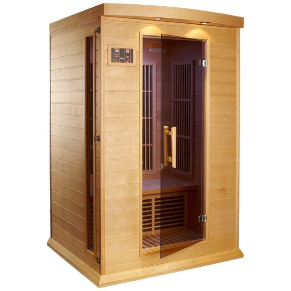shop maxxus 2 person mx k206 01 red cedar wood sauna free shipping today 9691241. Black Bedroom Furniture Sets. Home Design Ideas