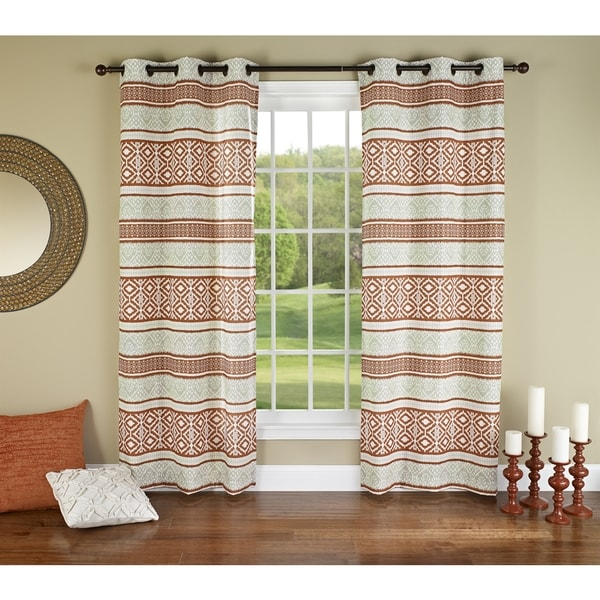 Curtains Ideas batik curtain panels : m.style Batik 84-inch Curtain Grommet Panel Pair - Free Shipping ...
