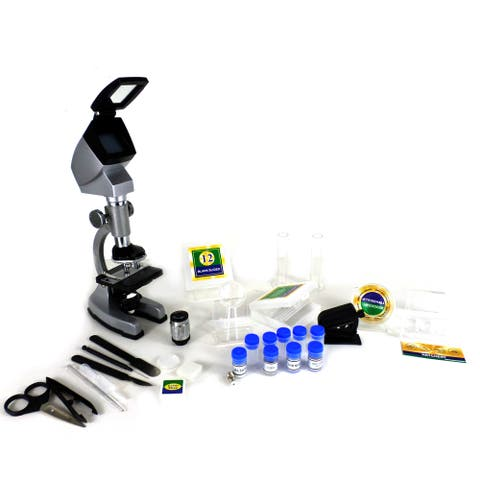 Cassini C-67M 1200x 3-Way Microscope Set Plus Travel Case