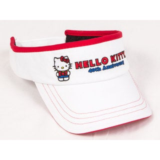 Hello Kitty 40th Anniversary Junior White Visor