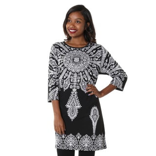 Hadari Women's Contemporary Casual Printed Shift Dress