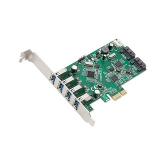 Syba 6-Port USB 3.0 SATAIII Pcie Revision 2.0 VLI/ Asmedia Chipsets With Standard/ Low Profile Brackets