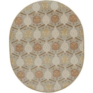Hand-tufted Sofia Traditional Wool Rug (6' x 9' Oval)