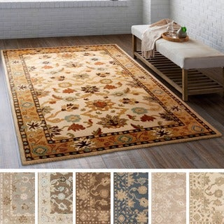 Hand-tufted Nick Traditional Wool Rug (7'6 x 9'6)