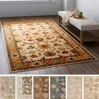 Hand-tufted Nick Traditional Wool Area Rug (7'6 x 9'6)