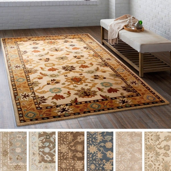 Hand-tufted Nick Traditional Wool Area Rug - 10' x 14'