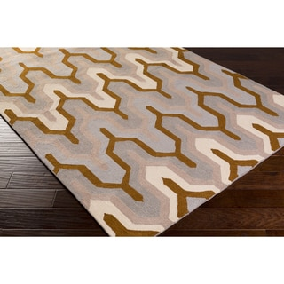 Hand-Hooked Madge Geometric Polyester Rug (8' x 10')