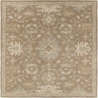 Hand-tufted Nolan Traditional Wool Area Rug - 9'9 Square