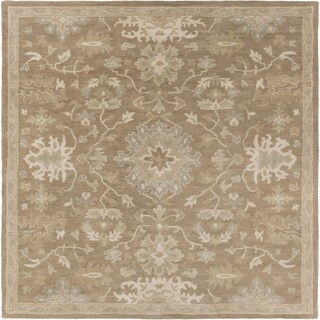 Hand-tufted Nolan Traditional Wool Area Rug - 9'9 Square (2 options available)