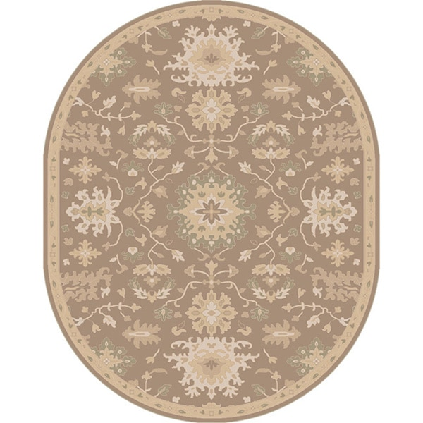 New Persian Hand Tufted Wool Oval Area Rug: Shop Hand-tufted Nolan Traditional Oval Wool Area Rug