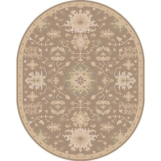 Hand-tufted Nolan Traditional Oval Wool Rug (6' x 9')