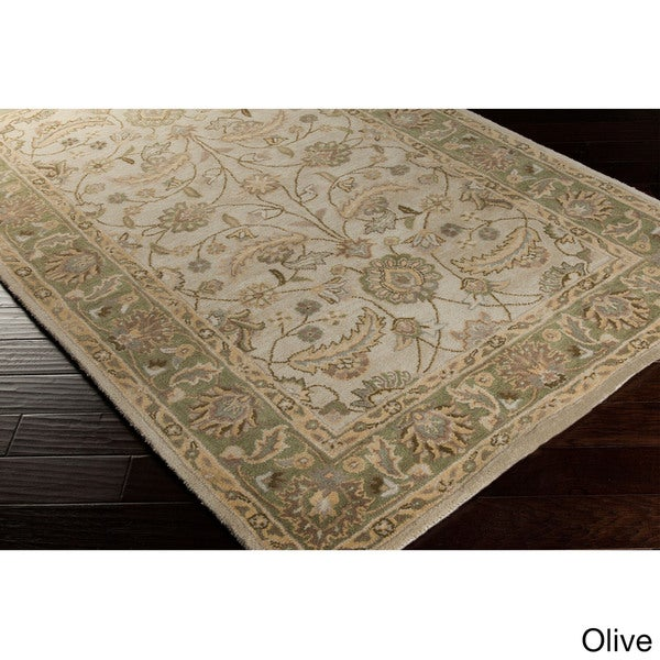 Hand-tufted Tiana Traditional Wool Area Rug. Opens flyout.