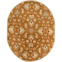 Hand-tufted Ty Traditional Wool Area Rug (6' x 9' Oval)