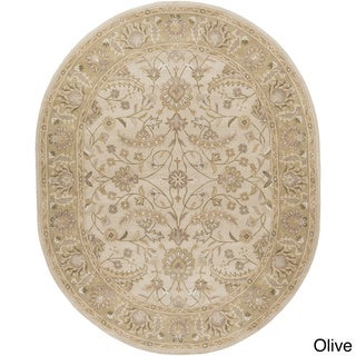 Hand-tufted Tiana Traditional Wool Rug (6' x 9' Oval)