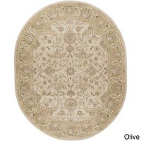 Hand-tufted Tiana Traditional Wool Area Rug (6' x 9' Oval)