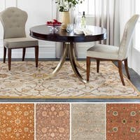 Hand-tufted Trey Traditional Wool Area Rug (9'9 Square)