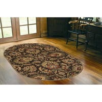 Hand-tufted Tami Traditional Wool Area Rug - 6' x 9' Oval