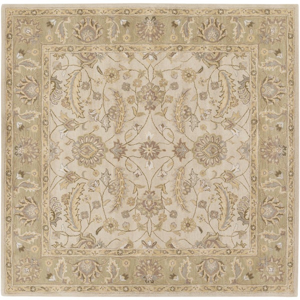 Hand-tufted Tiana Traditional Wool Area Rug (9'9 Square)