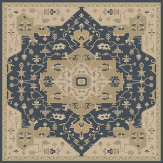 Hand-tufted Misty Traditional Wool Rug (9'9 Square)
