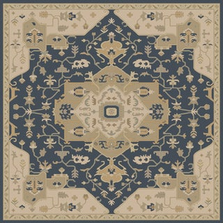 Hand-tufted Misty Traditional Wool Area Rug (9'9 Square)