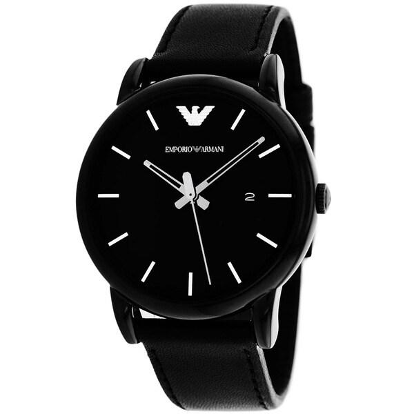 Armani Men's AR1732 Classic Round Black Strap Watch