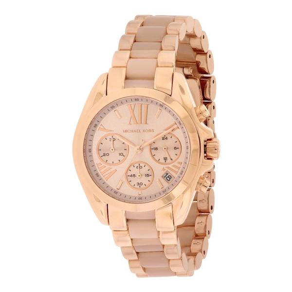 38fc52c250d Shop Michael Kors Women s MK6066  Bradshaw  Rose Gold Tone Ion ...