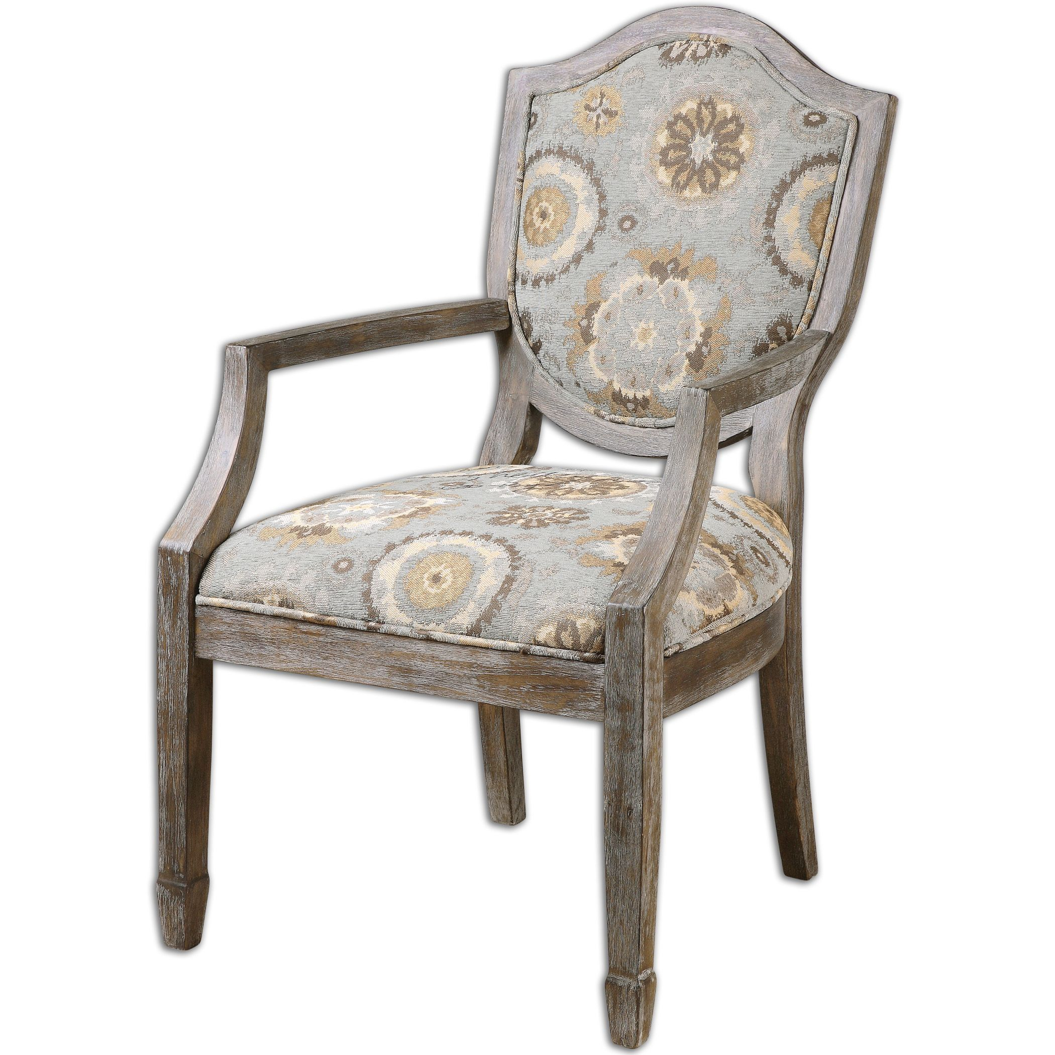 Uttermost Valene Weathered Accent Chair (Floral)